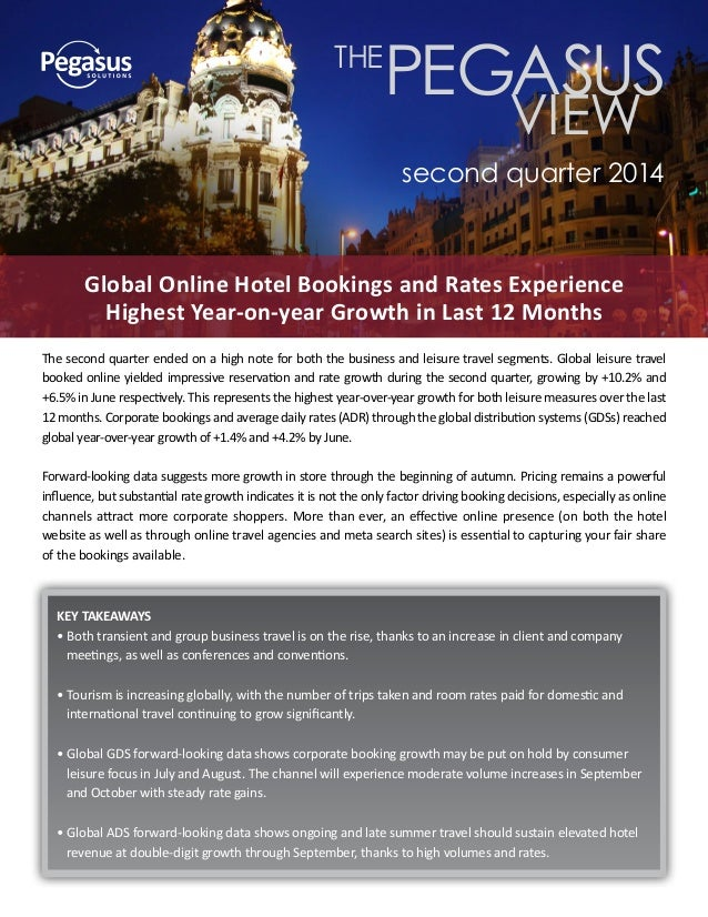 The second quarter ended on a high note for both the business and leisure travel segments. Global leisure travel booked on...