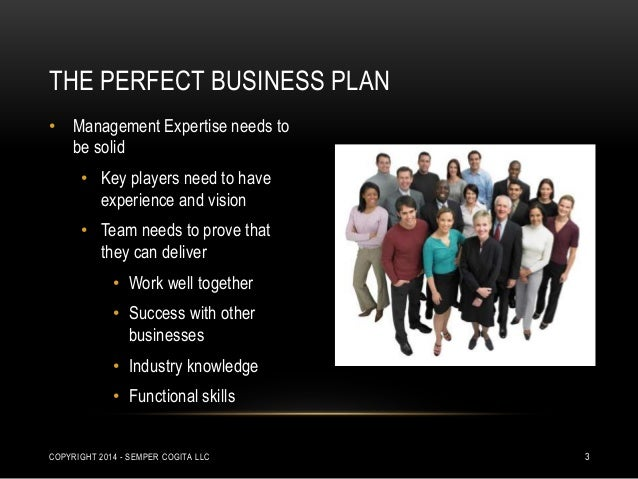 The perfect business plan