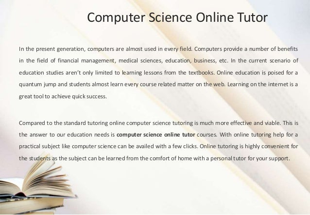 Computer Science online essay writing service