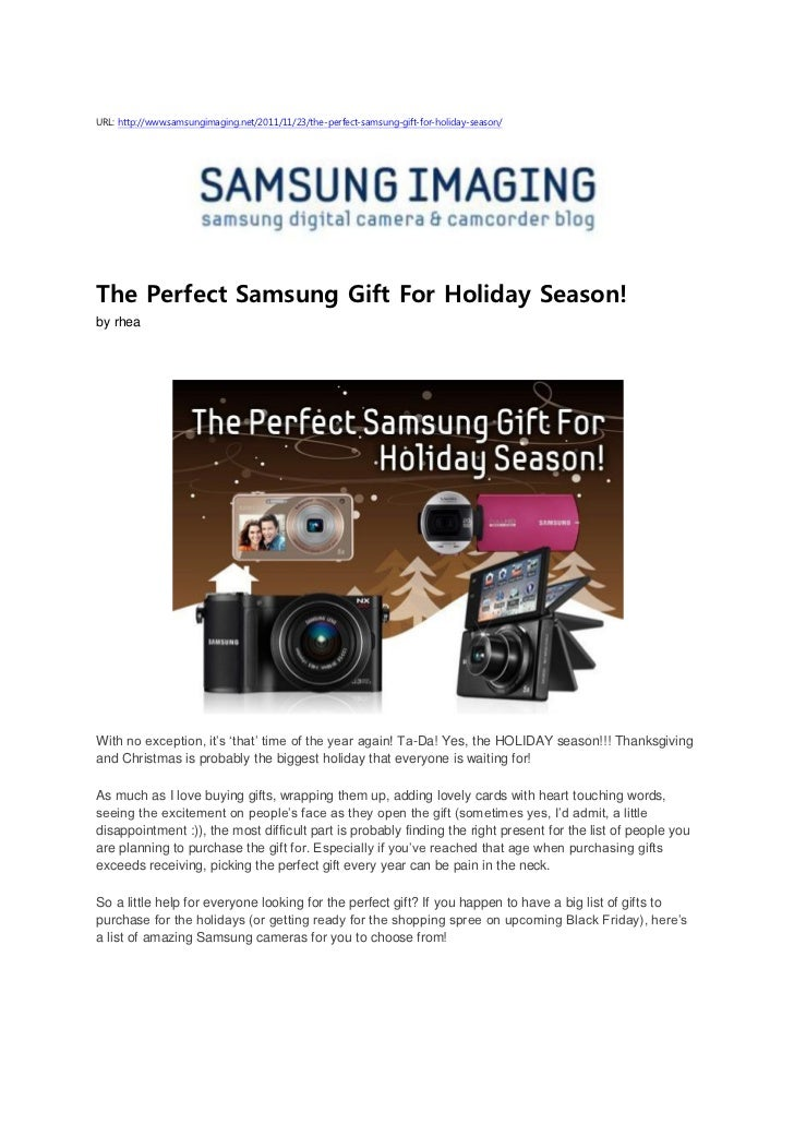 The perfect samsung gift for holiday season!(samsung imaging)
