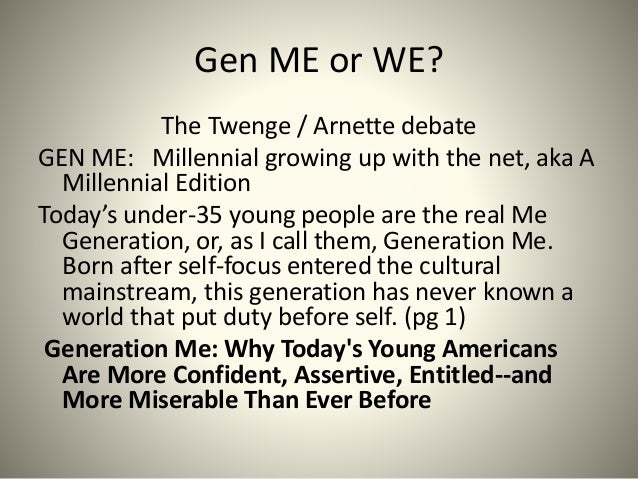narcissism and generation Millennials, also known as generation y or gen y, are the generational demographic cohort following generation x and preceding generation z there are no precise dates for when this cohort starts or ends demographers and researchers typically use the early 1980s as starting birth years and the mid-1990s to early 2000s as ending birth years.