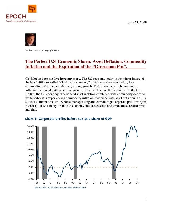 The Perfect Us Economic Storm