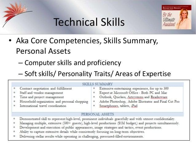 personal characteristics resumes