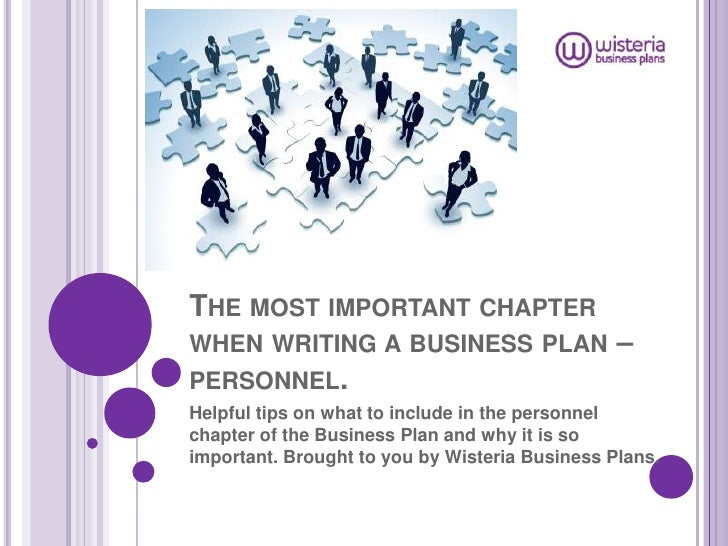 The personnel chapter of the business plan (wb)