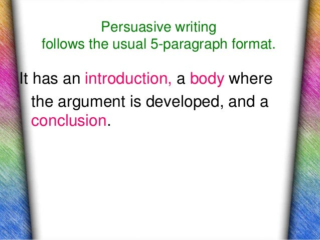 Help me on introduction paragraph for persuasive essay?