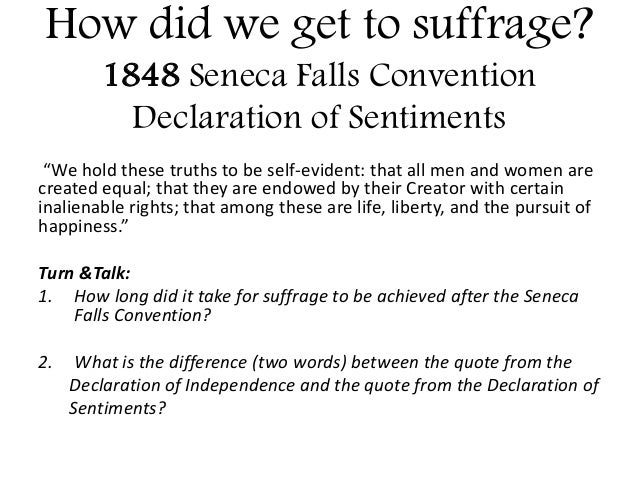 """comparison between the declaration of independence and the declaration of sentiments and resolutions Compare and contrast: """"declaration of independence"""" and """"declaration of sentiments and resolutions"""" essaycompare/contrast essay in the """" declaration of independence""""(jefferson, 1776), and """"declaration of sentiments and resolutions"""" (stanton, 1848), both authors state that something is not right."""