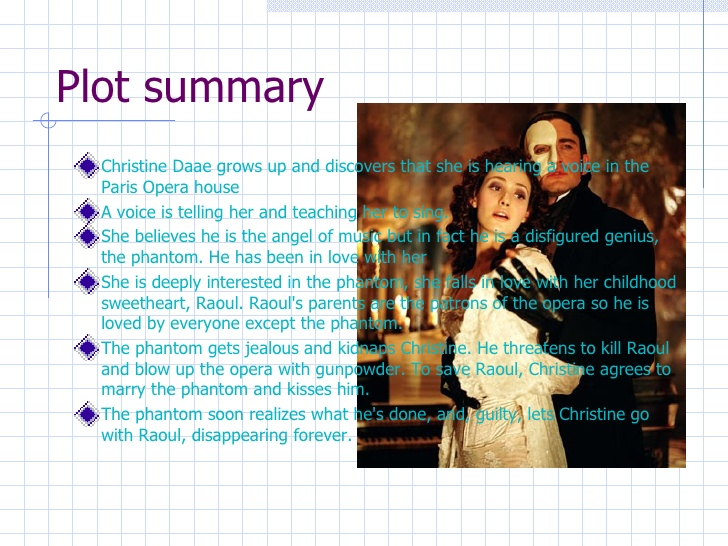 Phantom of the Opera book report - College Essays - 1200 Words