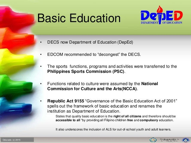 essays about educational planning in the philippines The context as a matter of practice, the curriculum in the philippines is revised every ten years, but the rapid rate of change in education and the fast obsolescence of knowledge necessitate a continual revisiting and updating of the curriculum to make it responsive to emerging changes in the needs of the learner and the society.
