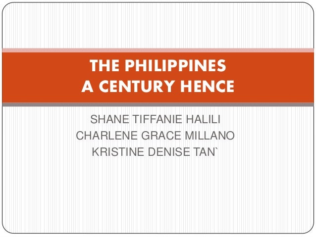 Can u give me a summary about the essay of rizal's philippine: a century hence?