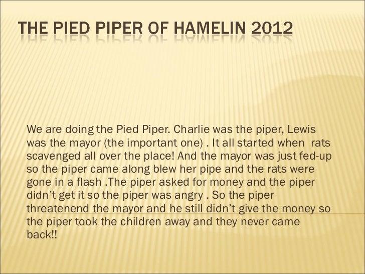The pied piper of hamlin 2012jamesellielowenoliver