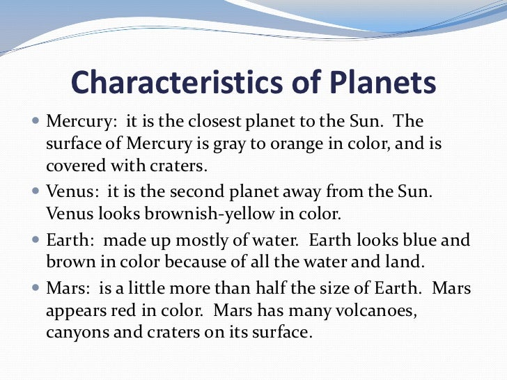 physical characteristics of the planets - photo #8
