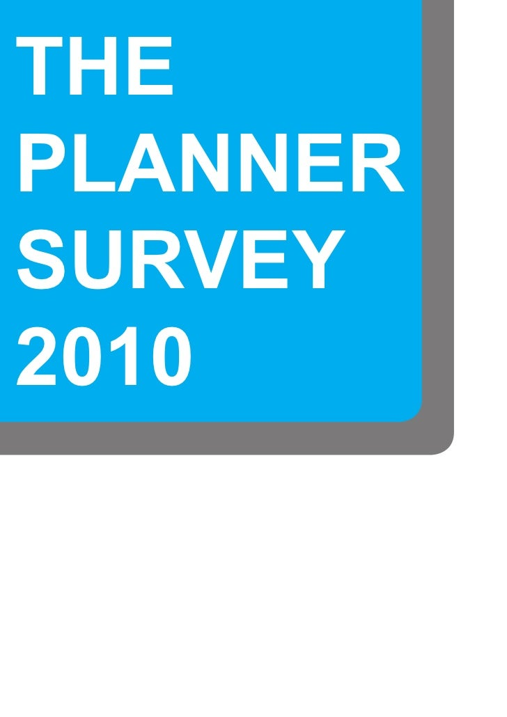 The  Planner Survey 2010
