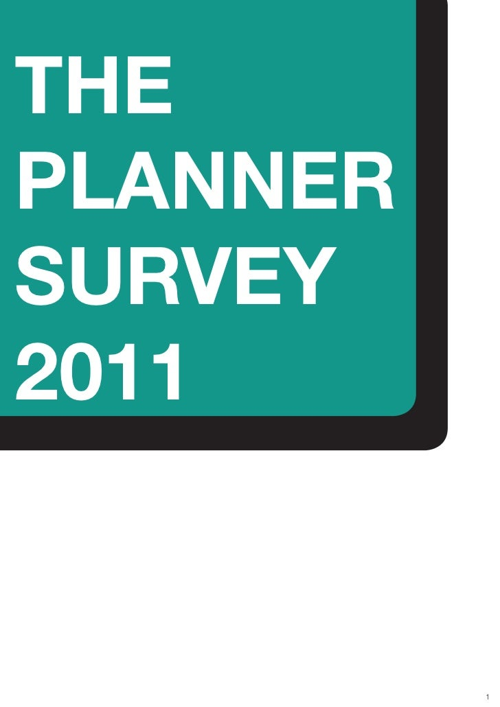 The Planner Survey 2011