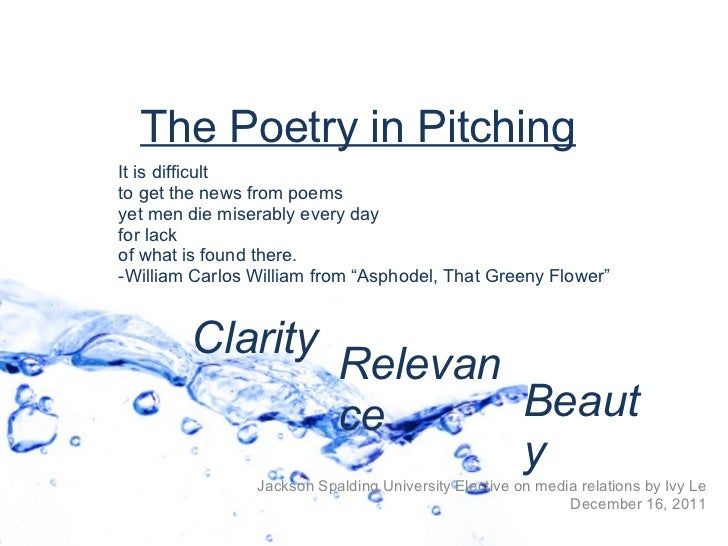 Poetry in Pitching