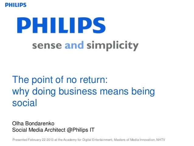 The point of no return why doing business means being social