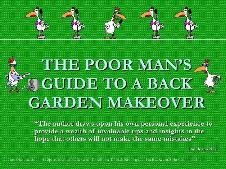 The Poor Man's Guide To A Garden Makeover