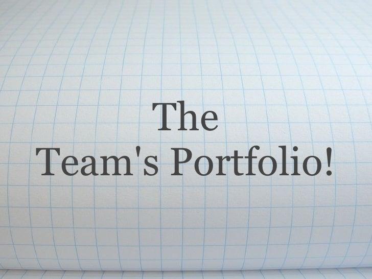The Team'sPortfolio!