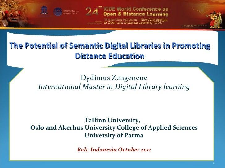 Dydimus Zengenene International Master in Digital Library learning Tallinn University,  Oslo and Akerhus University Colleg...