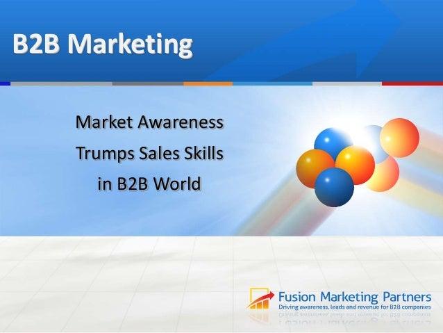 The Power of B2B Market Awareness
