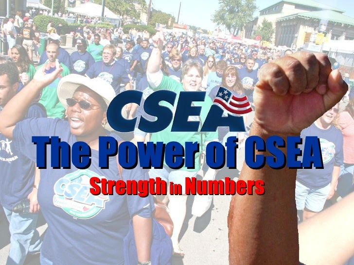 Strength  in  Numbers The Power of CSEA