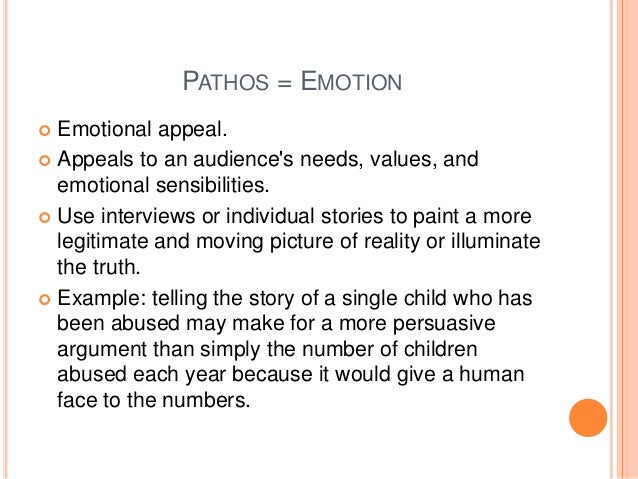 persuasive essay using ethos pathos and logos The three pillars of persuasion: ethos, logos, pathos the persuasive technique of ethos relates to ethics use pathos at the end of your speech or essay.