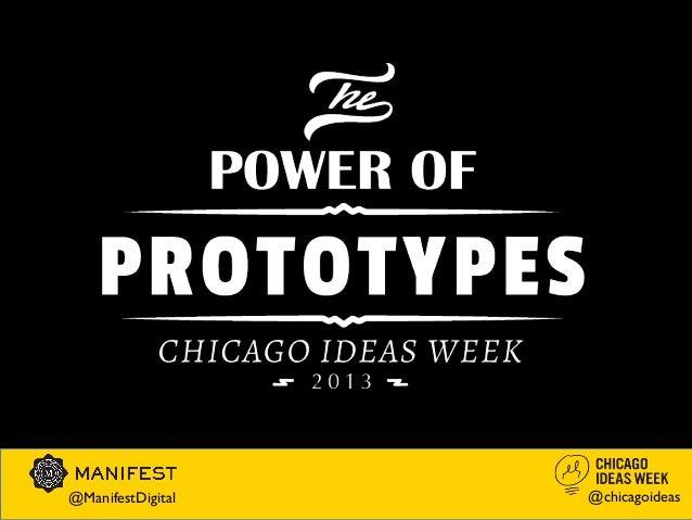 @ManifestDigital   @chicagoideas