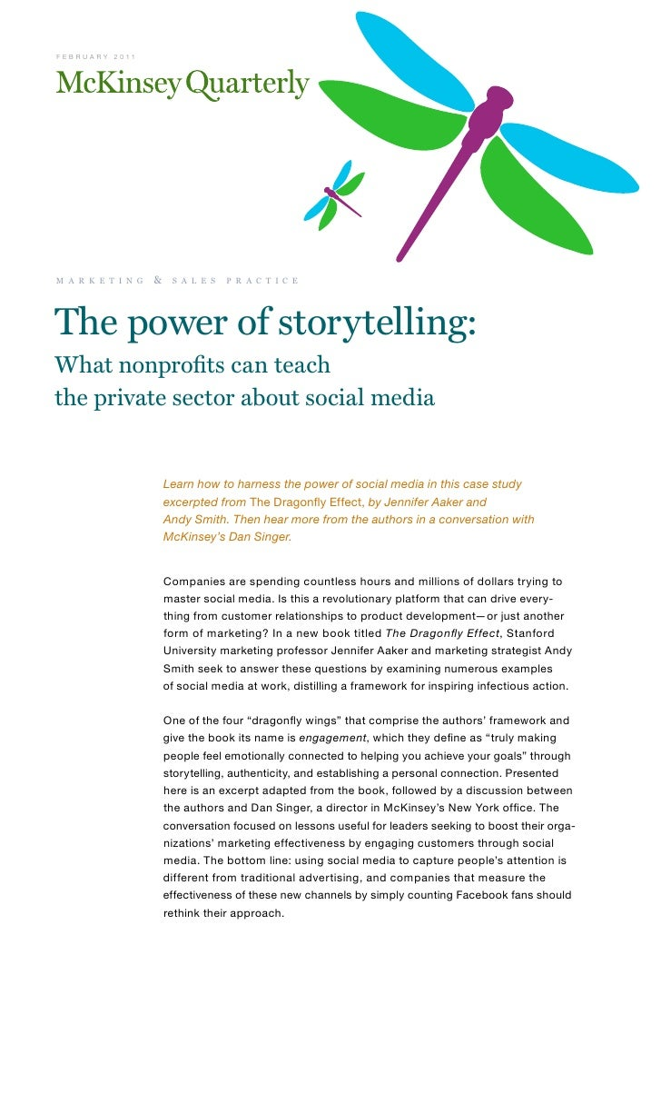 The power of storytelling: What nonprofits can teach the private sector about social media - The McKinsey Quarterly - February 2011