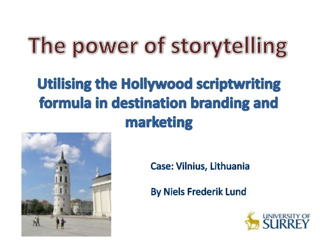 The application of Hollywood scriptwriting formula to            destination marketing could:Integrate the various tourism...
