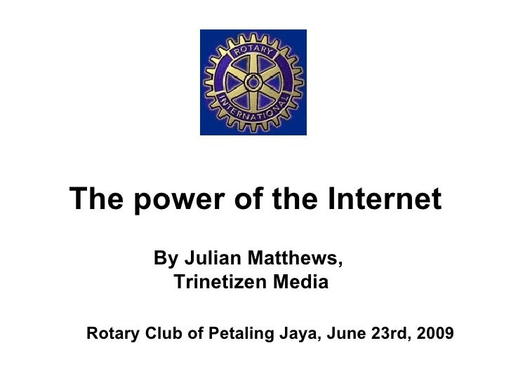 The Power Of The Net