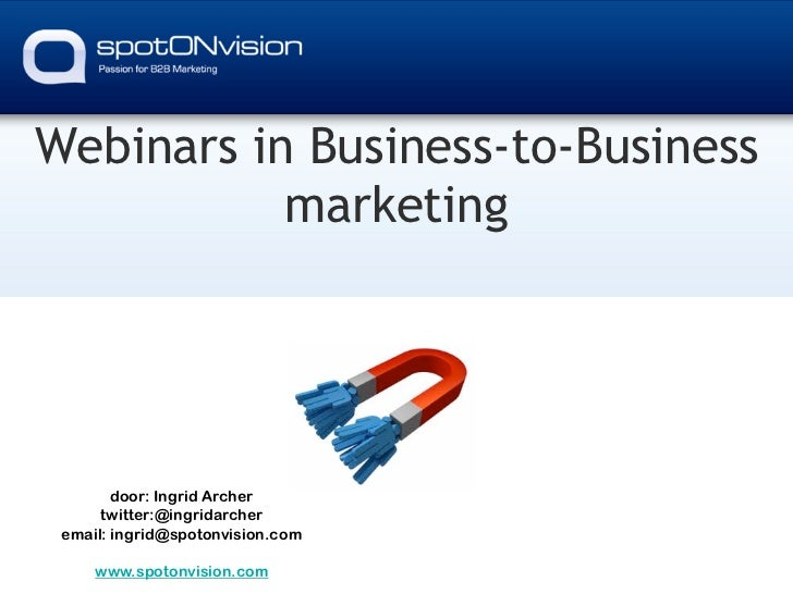The power of webinars by spotONvision