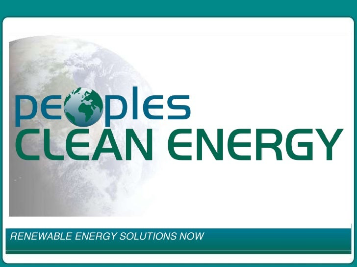 RENEWABLE ENERGY SOLUTIONS NOW