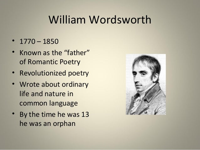 essay wordsworth poet nature Responding to wordsworth: thorpe's essay traces the history of wordsworth's to which she admired wordsworth as a simple poet of nature and rural.