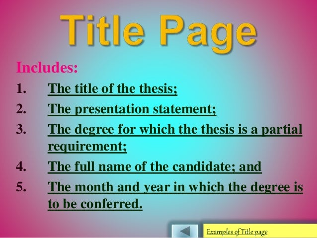 Parts of thesis paper