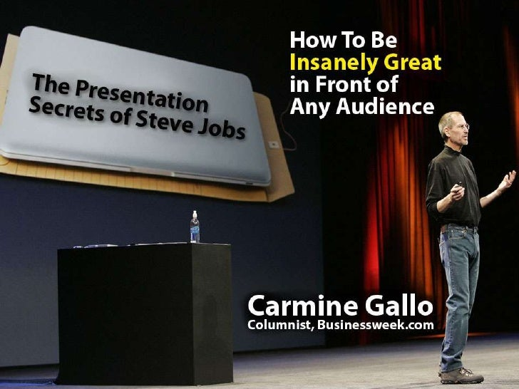 This presentation is given live by Carmine Gallo  but so the knowledge can be shared in this format, we've created notes f...