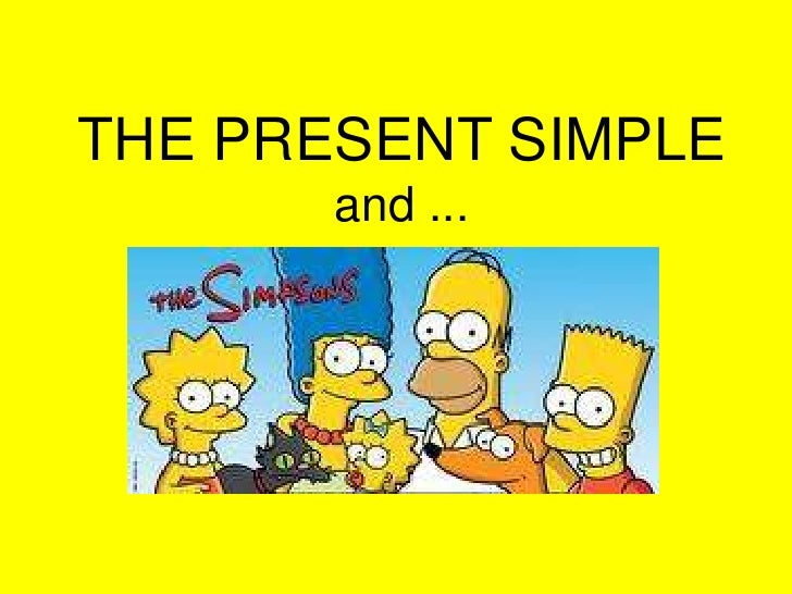 The present simple and the simpsons