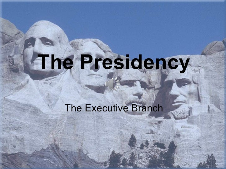 The Presidency  The Executive Branch