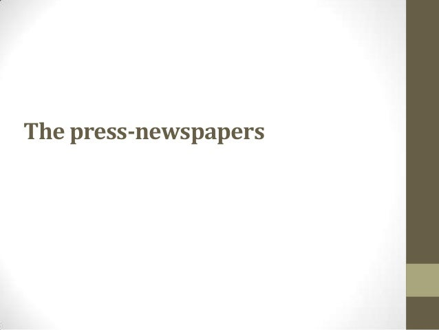 The press-newspapers