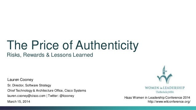 Haas Women in Leadership Conference 2014: Authenticity in the Corporate World