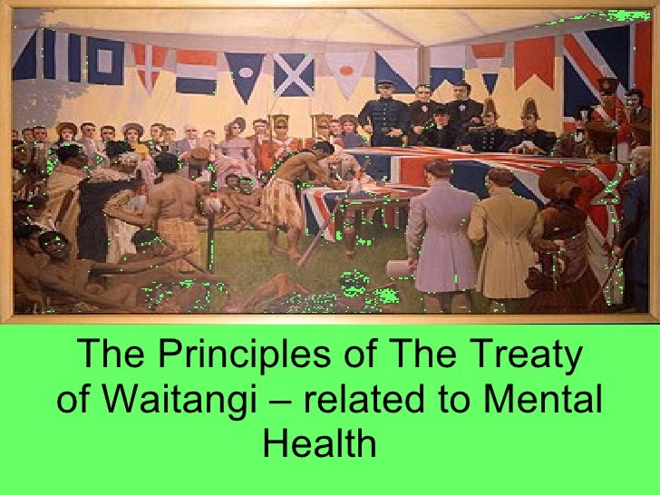 The Principles of The Treaty of Waitangi – related to Mental Health
