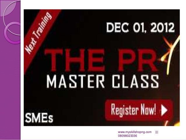The pr master class presentation