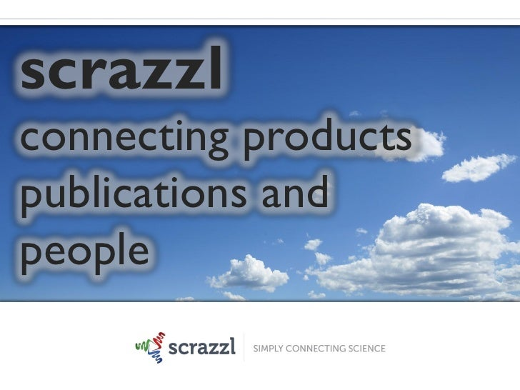 scrazzlconnecting productspublications andpeople