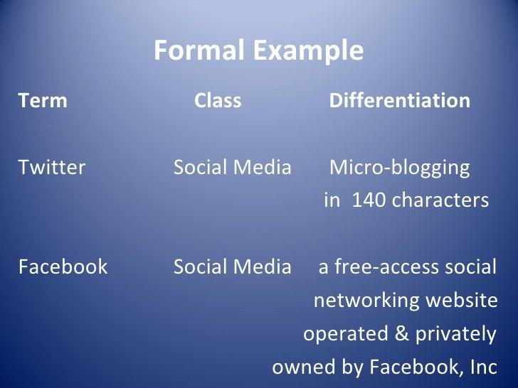 Formal Essay Example