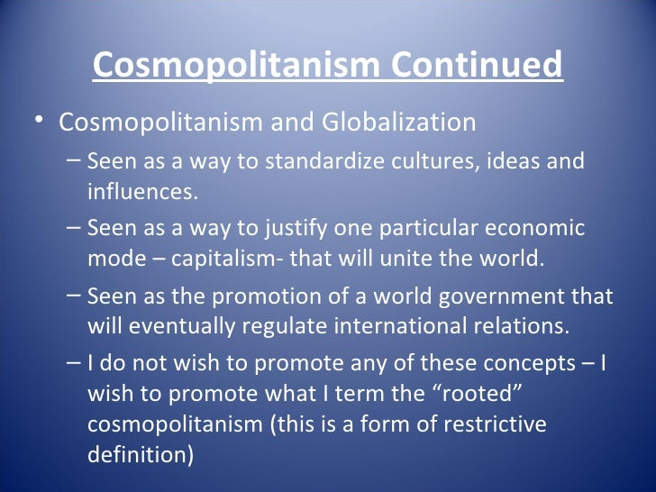 Cosmopolitanism Essay
