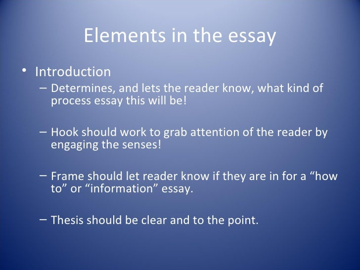 elements writing essay Writing a narrative essay does not mean that all readers will love it in conclusion, the lesson aims to teach you about what a narrative essay is and how to start writing one now that you have understood what a narrative essay is and all its elements and components, it is time for you to create one yourself.