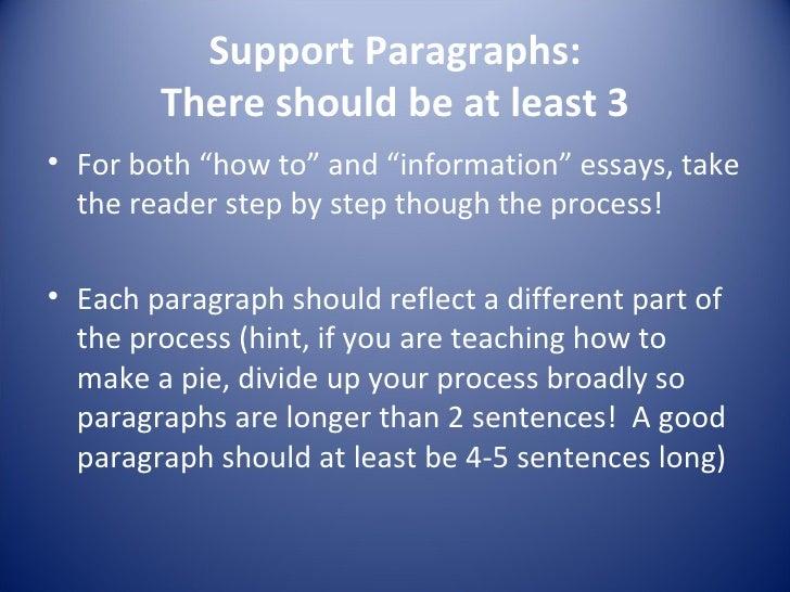Process essay definition