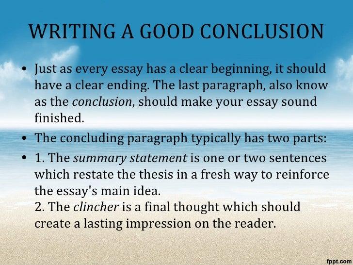 What's a good conclusion paragraph?
