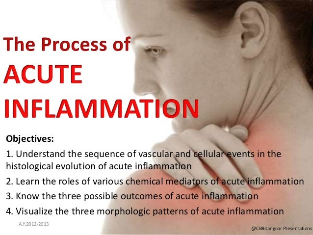 Objectives:1. Understand the sequence of vascular and cellular events in thehistological evolution of acute inflammation2....