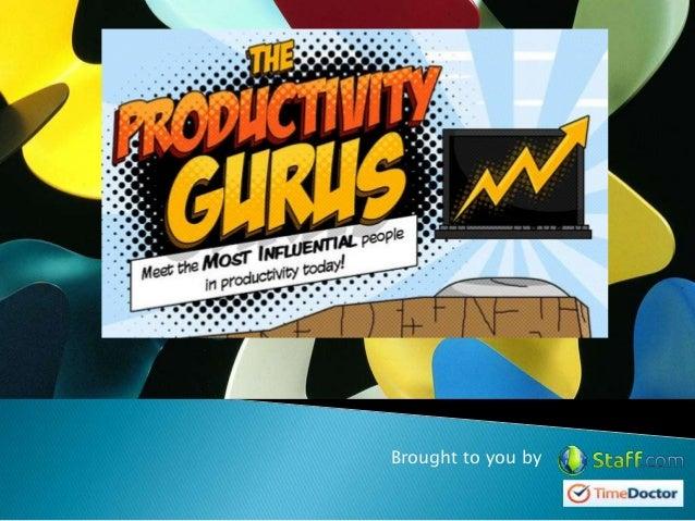 The productivity gurus