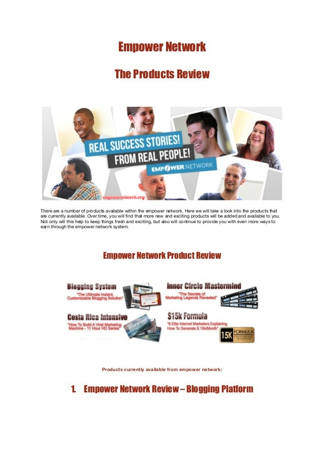 Empower Network Products Review