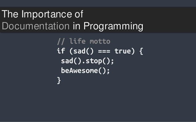 The Importance of Documentation in Programming